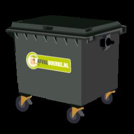 Container 1100 liter bedrijfsafval