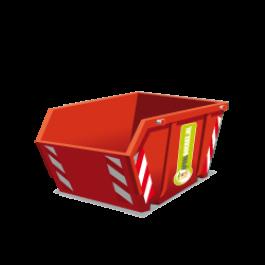 Een puincontainer met een inhoud van 3m3