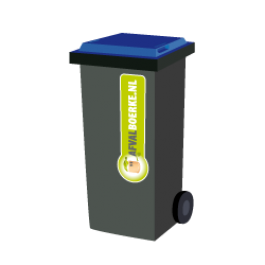 Container 240 liter papier