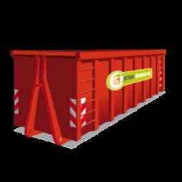 Een 30 m³ open container voor groenafval