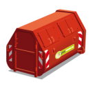 10 m³ gesloten container voor restafval