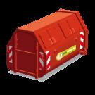 Gesloten container voor schoon puinafval inhoud 10m3