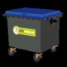 Container 1100 liter papier