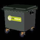 Container 1700 liter bedrijfsafval