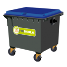 Container 1700 liter papier
