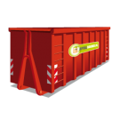 Container 40m3 groen