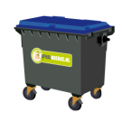 Container 660 liter papier