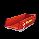 Een puincontainer met een inhoud van 6m3